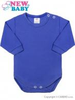 Dojčenské body s dlhým rukávom New Baby modré NEW BABY