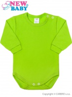 Dojčenské body s dlhým rukávom New Baby svetlo zelené NEW BABY