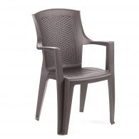 Plastová zahradní židle Eden, hnědá