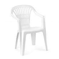Plastová zahradní židle Scilla bílá