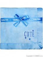 Detská plyšová deka Baby Mix Cute modrá BABY MIX