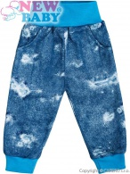 Dojčenské tepláčky s vreckami New Baby Light Jeansbaby modré NEW BABY