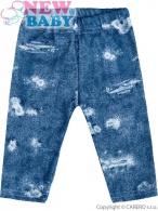 Dojčenské bavlnené legíny New Baby Light Jeansbaby modré NEW BABY
