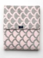 Detská bavlnená deka so vzorom Womar 75x100 ružovo-sivá WOMAR