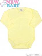 Dojčenské body celorozopínacie New Baby Classic žlté NEW BABY