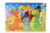 Pěnové puzzle 24 dílků dino
