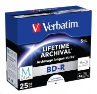 VERBATIM M-Disc BD-R(5-pack)Jewel/4x/25GB