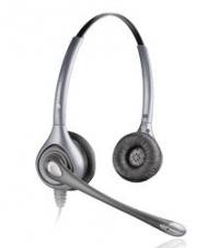 HW361N/A Plantronics - SupraPlus náhlavní souprava, na obě uši, spona přes hlavu, NC, stříbrná (82313-02)