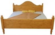 Dřevěná postel Rustical dvoulůžková