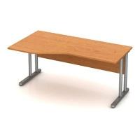 Stůl pracovní rohový - kovová podnož