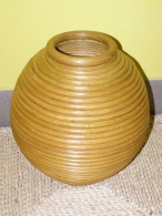 Ratanová váza V3-světlá