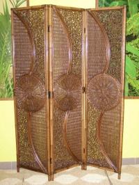 Ratanový paravan Sumatra-tmavý