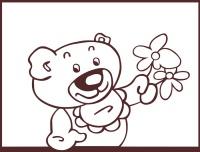 Samolepící dekorace Medvídek