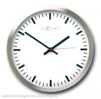Designové nástěnné hodiny 2518 Nextime Stripe white 15cm