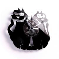 Designové nástěnné hodiny Discoclock 047 Cats 30cm
