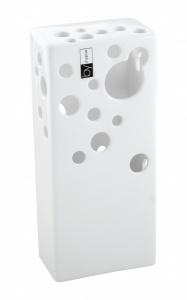 Váza Quadro High bílá 10x6x23