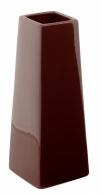 Váza Quadro Cone hnědá 10x27