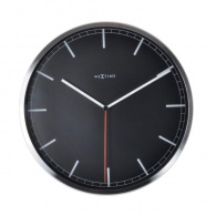Designové nástěnné hodiny 3071zw Nextime Company Black Stripe 35cm