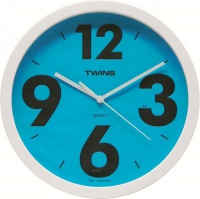 Nástěnné hodiny Twins 903 blue 26cm
