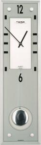 Nástěnné kyvadlové hodiny Twins 9048 white 45cm