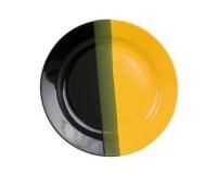 Talíř mělký černo/žlutý 25cm