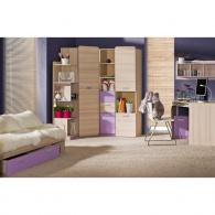 Noční stolek, jasan/fialový, EGO L12