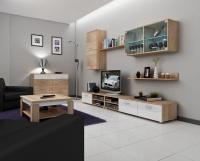 Obývací stěna Magic dub-bílý lesk