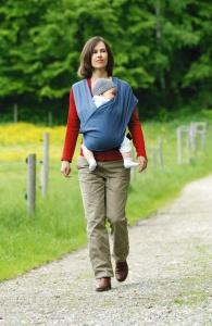 Šátek na nošení dětí Carry Baby Blue
