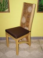 Jídelní židle Caucedos-banánový list-borovice