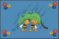 Dětský koberec Včelka Mája v dešti