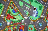 Dětský koberec Dopravní hra