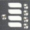 4FN23102.2/F Tesla - KARAT 2-BUS Modul zvonkové tablo se 4 tlačítky v jené řadě se zámkem stříbrný