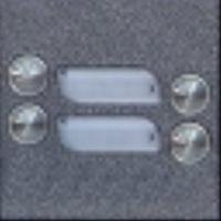 4FN23100.2 Tesla - KARAT 2-BUS Modul zvonkové tablo s 4 tlačítky stříbrný
