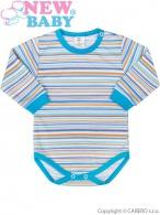 Dojčenské body s dlhým rukávom New Baby Puppik 2 tyrkysové NEW BABY