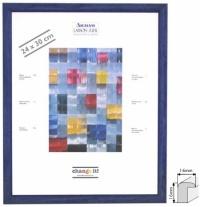 Dřevěný foto rám KELLY modrá