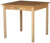 Jídelní stůl se zásuvkou JSHŠ 80x80 cm