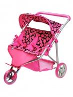 Športový kočík pre 2 bábiky PlayTo Klaudie ružový PLAYTO