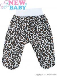 Dojčenské polodupačky New Baby Leopardík hnedé NEW BABY