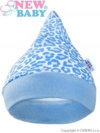 Dojčenská čiapočka New Baby Leopardík modrá NEW BABY