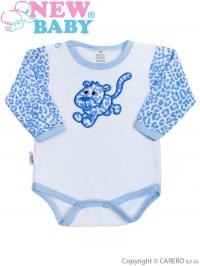 Dojčenské body New Baby Leopardík modré NEW BABY