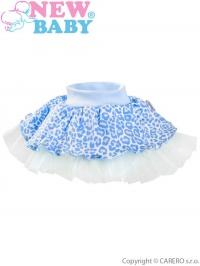 Dojčenská suknička s tylovou spodničkou New Baby Leopardík modrá NEW BABY