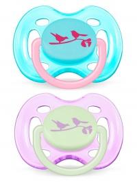 Dojčenský cumlík Avent 0-6 mesiacov - 2 ks vtáčiky AVENT