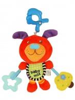 Plyšová hračka s hracím strojčekom Baby Mix Psíček červený BABY MIX