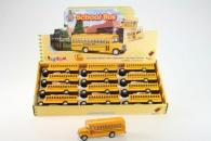 Kinsmart Školní autobus 12/cena KUS ( iba komplet balenie )