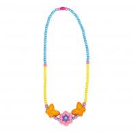 Dětský dřevěný náhrdelník, kytička