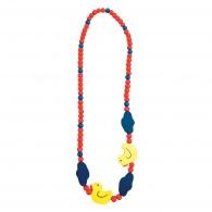 Dětský dřevěný náhrdelník, kachnička
