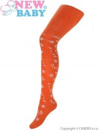 Bavlnené pančucháče 3D New Baby oranžové NEW BABY