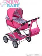 Detský kočík pre bábiky 2v1 New Baby Ruženka NEW BABY