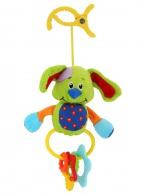 Detská plyšová hračka s hrkálkou Baby Mix psík BABY MIX