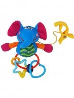 Plyšová hračka s hrkálkou Baby Mix sloník BABY MIX